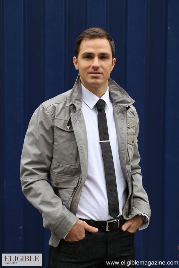 Lab grey 6 pocket bomber jacket Style: 78103 $750.00 - Dibi black tie Style: L9 $55.00
