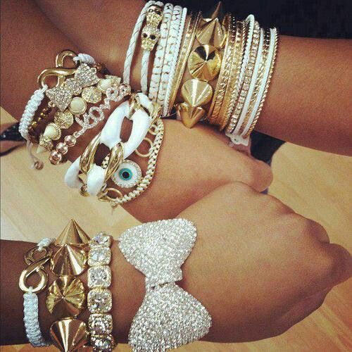 ladies layered bracelets (1)