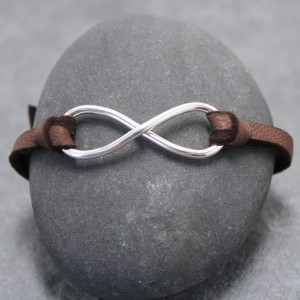 mens leather Infinity bracelet (1)