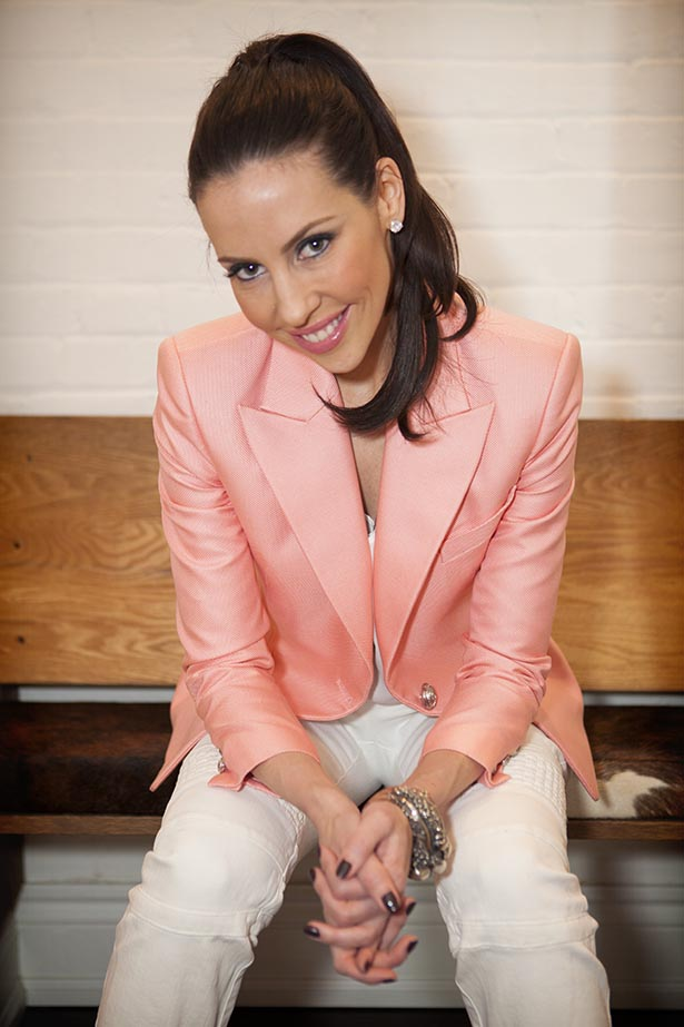 Balmain Single Breasted Woven Blazer in Pink $2395.00 - Pearl Foliage & Scull Bracelet by Ugo Cacciatori $4995.00