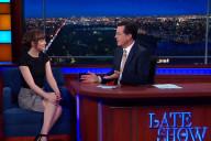 Dakota Johnson Stephen Colbert