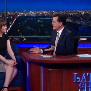 Dakota Johnson Stephen Colbert