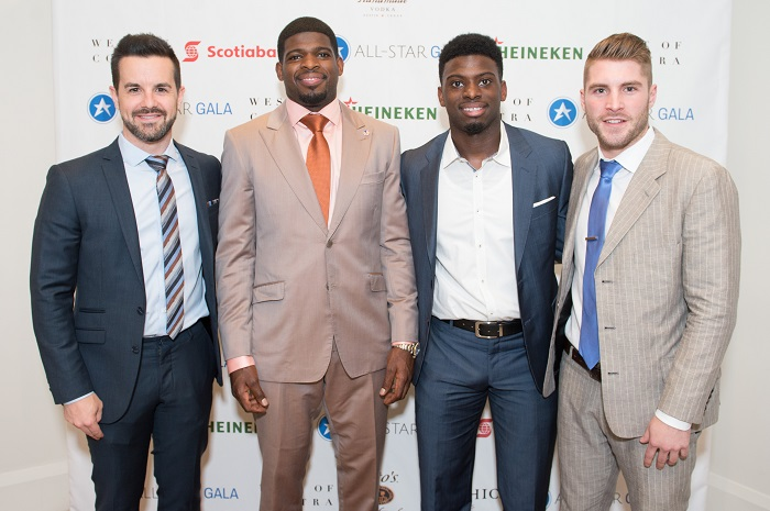 (left to right) James Blackburn, PK Subban, Jordan Subban, Cam Healy