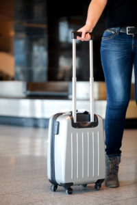 Collecting luggage at the airport