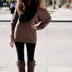 v63ci0-l-610x610-sweater-brown-fall-winter-boots-leggings-scarf-shoulder+sweater
