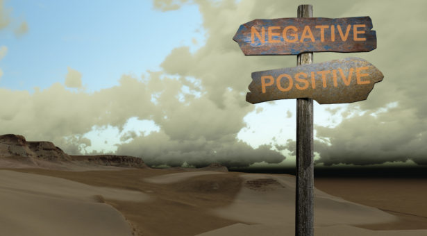 sign direction negative - positive