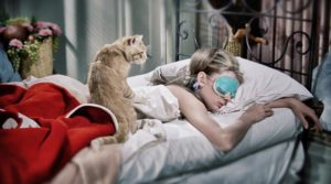 audrey-hepburn-cat-breakfast-tiffanys-sleeping