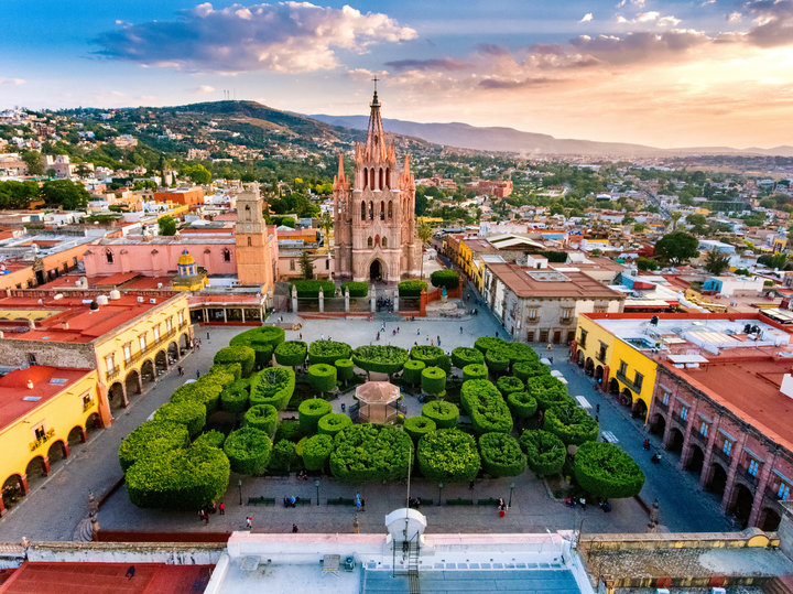 Arcangel Parish Is The Hallmark Of This City A Beautiful Temple End Century Mexico
